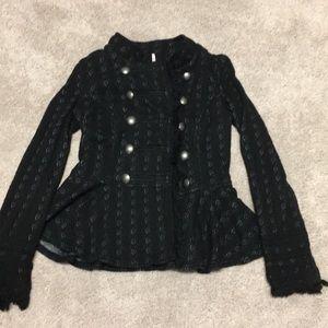 Free people army style black jacket